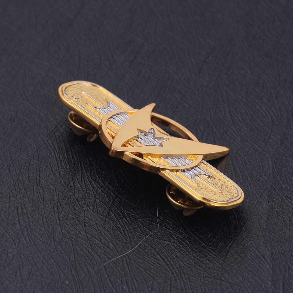 Film Bros Berlapis Starfleet Bros Pin Communicator Perintah Bros Lencana Kerah Pin Starfleet Lencana Bros Hadiah