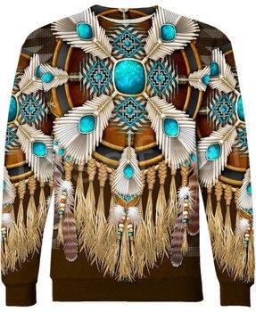 Tessffel Indian Native culture Harajuku Casual Colorful Tracksuit New Fashion Funny 3DPrint Unisex Sweatshirts Mens Womens s-3 1