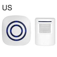 Waterproof Doorbell Alarm-Door Infrared-Detector Welcome-Motion-Sensor PIR Wireless Induction