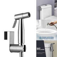 Wall Self Cleaning Easy Install Handheld Shower Head Faucet Stainless Steel Toilet Bidet Sprayer Set Bathroom Hose Accessories