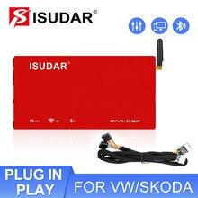ISUDAR-AMPLIFICADOR DE COCHE DSP, versión antigua, procesador de Audio Digital automático, 1200W, Bluetooth, Clase AB, 31 bandas, filtro EQ, DA06