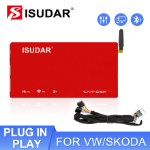 Isudar DA06 Auto Versterker Dsp Voor Vw/Skoda Oude Versie Auto Digitale Audio Processor 1200W Bluetooth Ab Klasse 31 Bands Eq Filter