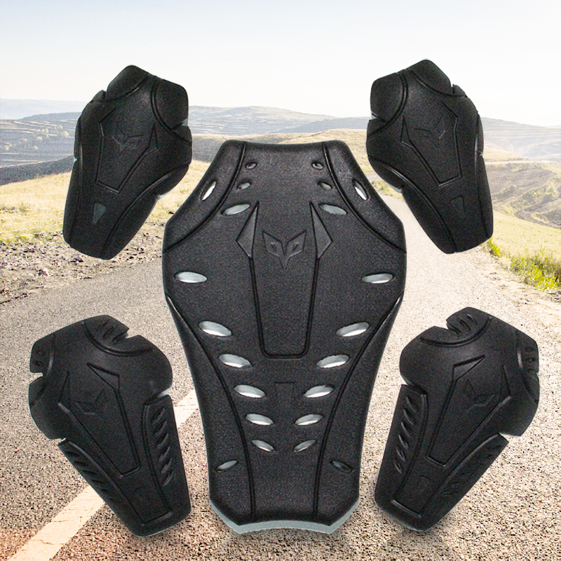 DUAHN Moto genouillère armure corporelle Moto CE genouillère épaules coudes arrière Moto Protection Moto protecteur arrière motard