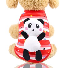 Vest Summer Dogs-Outfits Spring Cool Small Fashion Cartoon for Cute Pet-Clothing Red