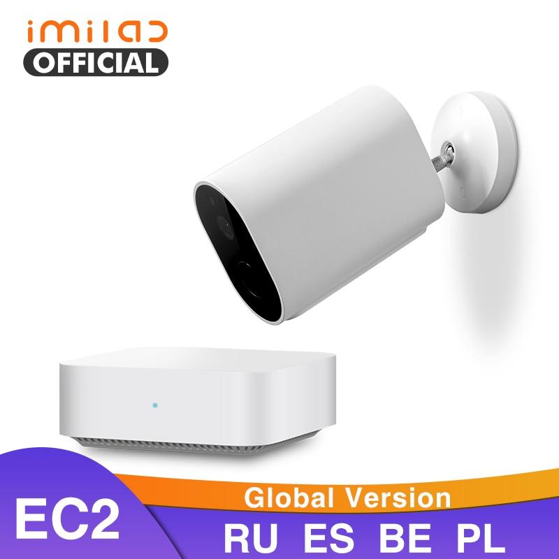 IMILAB EC2 C/ámara de Seguridad inal/ámbrica sin Cables para Exteriores para Todo Clima con bater/ía Intercomunicador de Voz Remoto IP66 Puerta de Enlace Impermeable y Compatible