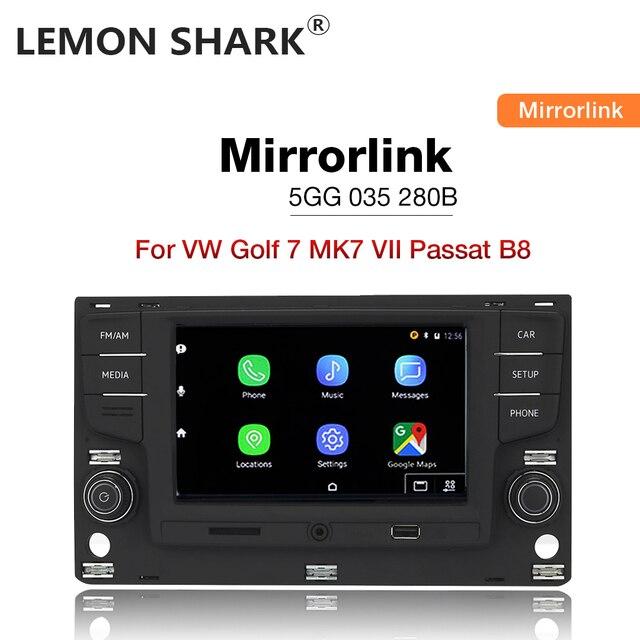 """Limon köpekbalığı MQB 6.5 """"MIB araba radyo Mirrorlink OPS ters kamera için VW Passat B8 Golf 7 radyo MK7 yedi 5GG 035 280B"""