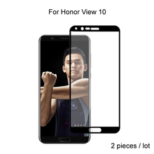 2pcs For Huawei Honor View 10 Glass Full Cover Tempered Glass For Huawei Honor View 10 V10 Screen Protector Protective Glass glass for huawei honor view 30 pro tempered glass full cover glue screen protector for huawei honor view 30 for honor v30 glass