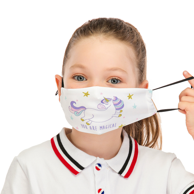 Zohra Reusable Children Mask Protective PM2.5 Filter mouth Mask anti dust Face mask bacteria proof Flu Mask Cute Kids Mask 2