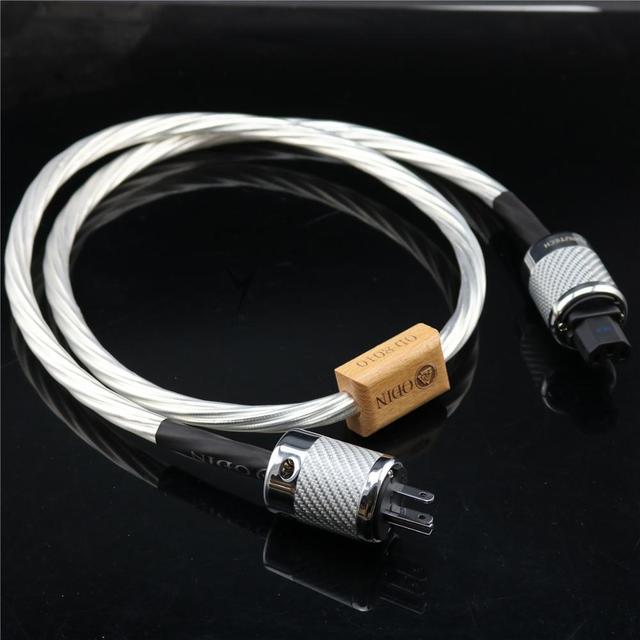 Cable de alimentación HIFI de alta gama, cable de alimentación con enchufe US, EU, IEC, 3 pines, 2 pines