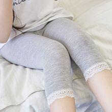 Юбка-леггинсы для девочек на лето и осень одежда для маленьких девочек мягкие тонкие леггинсы милые детские брюки кружевные Шелковые штаны для девочек детские штаны