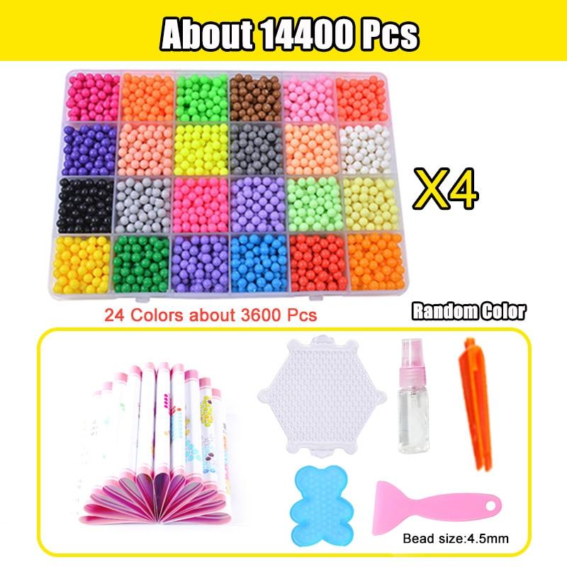 Refill Hama Beads Puzzle Aquabeads DIY Water Spray Beads Set Ball Games 3D Handmade Magic Toys For Girls Children 8