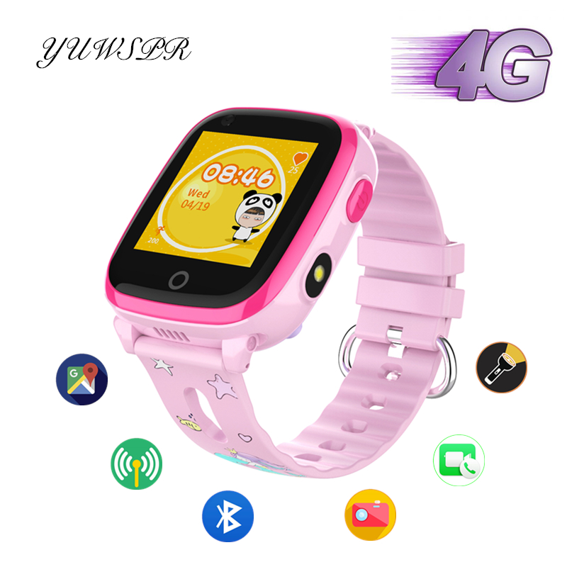 Kids Tracker Watches 4G Smart Watch GPS LBS WIFI Positioning Bluetooth IP67 Waterproof Remote Camera Children Smart Watch DF33Z