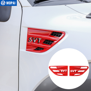 Image 3 - 포드 F150 랩터 2009 2014 SVT 편지에 대 한 자동차 바디 공기 흐름 환기 커버 펜더 장식 커버 액세서리에 대 한 MOPAI 스티커