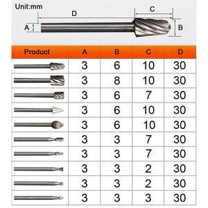Image 2 - TUNGFULL 10 יח\חבילה HSS הניתוב נתב Bits Burr רוטרי Dremel סיבובי Wordworking כלי חריטת Dremel אבזרים