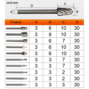 TUNGFULL 10pcs/lot HSS Routing Router Bits Burr Rotary Tools Suit Dremel Rotary Wordworking Tool Engraving Dremel Accessories