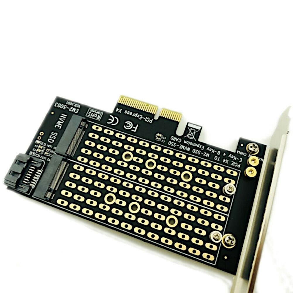 High Speed Mini <font><b>X4</b></font> X8 X16 Converter NVME Adapter <font><b>M.2</b></font> NGFF To Desktop PCIe Expansion Card SATA For Computer Dual SSD <font><b>PCI</b></font> Express image