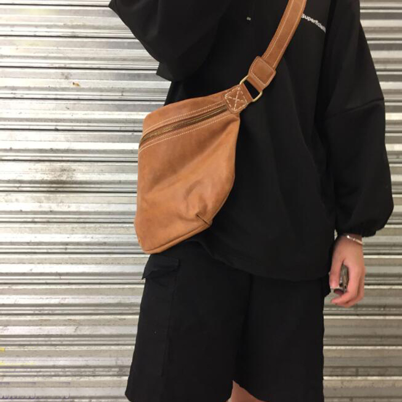 Bag Women Casual 100% Natural Leather Wild Shoulder Bag Messenger Bag Vintage Cowhide Pattern Crossbody Bags Casual Chest Bags