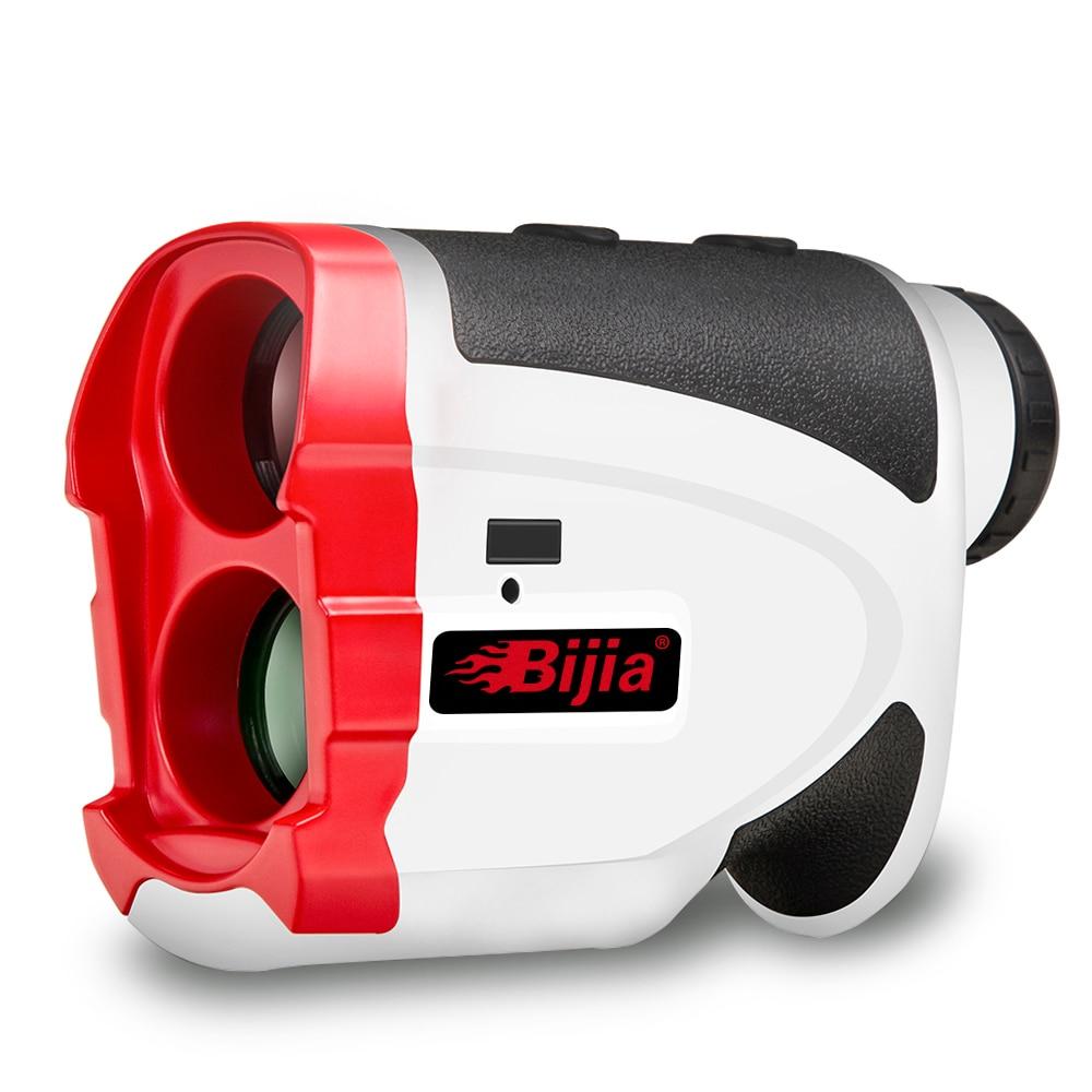 BIJIA golf rangefinder 600m laser distance meter Telescope flag lock slope correction portable range finder G600
