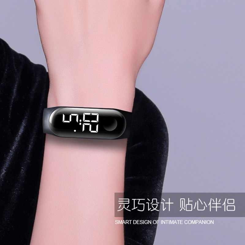 Erkekler kadınlar spor rahat LED saatler dijital saat ışık sensörü su geçirmez kol saati montre femme homme Relogio Masculino