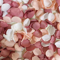 100Pcs/Bag Hand Made 2021 New Rose Petals for Wedding Artificial Silk Flower Marriage Decoration Valentine 1