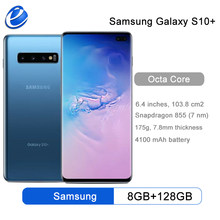 Samsung Galaxy S10 + S10 más G975F/U 128GB 512G desbloqueado teléfono móvil Snapdragon 855 Octa Core 6,4