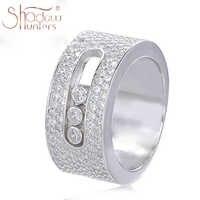 SHADOWHUNTERS Luxus Marke Authentische 925 Sterlling Silber Hochzeit Klar CZ Bewegen Stein Ringe Für Männer Mode Schmuck Machen