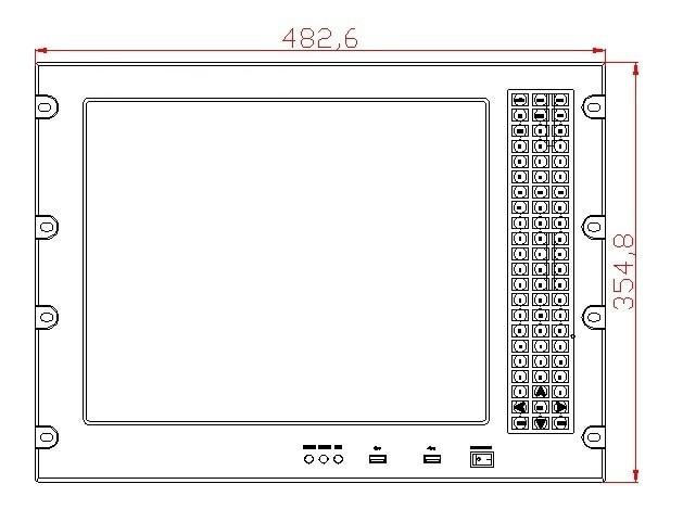 8U 17 inch Rack Panel panel, Core i3-3217U CPU, 4 GB RAM, HDD 500 GB, - Calculatoare industriale și accesorii - Fotografie 3