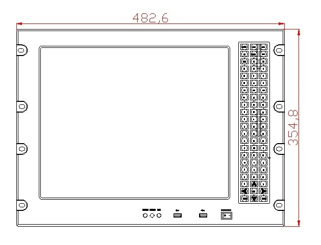 8U 17 inci Rack Mount panel pc, Core i3-3217U CPU, 4GB RAM, 500GB - Industri komputer dan aksesoris - Foto 3