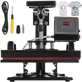 12X10 Inch Heat Press Dual Digital Heat Press Machine 650W T-Shirt Sublimation Printer Transfer 1