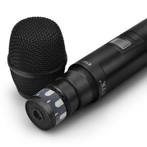 Image 5 - EYK E100 UHF sabit frekans 2 kanal kablosuz mikrofon sistemi çift el mikrofon için uzun menzilli KTV Karaoke aile partisi