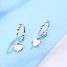 925 Sterling Silver New Loving Earrings Classic Temperament Lady's Loving Earrings Fashion Loving Mini Ear Button Accessories цена 2017