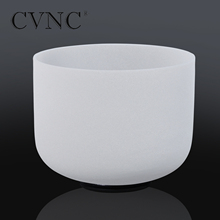 "CVNC Powerful 16"" Tuned CDEFGAB any Note Frosted Quartz Crystal Singing Bowl"