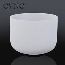 """CVNC puissant 16 """"accordé CDEFGAB toute Note givré Quartz cristal bol chantant"""