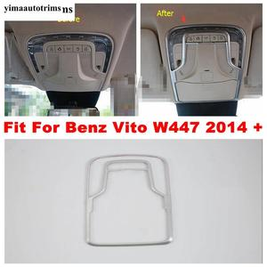 Image 1 - Matte Accessories For Mercedes Benz Vito W447 2014   2019 Car Inner Front Roof Reading Lights Lamps Panel Cover Trim Interior