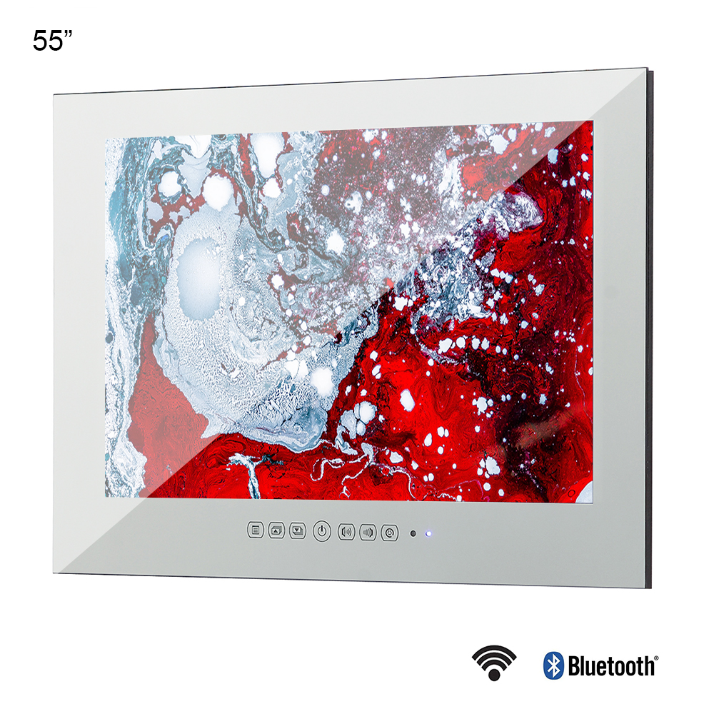 Souria 55 INCH Big Screen Monitor Smart WiFi Internet LED Waterproof LED TV Entertainment (ATSC/<font><b>DVB</b></font>-T/<font><b>DVB</b></font>-T2/<font><b>C</b></font>) image
