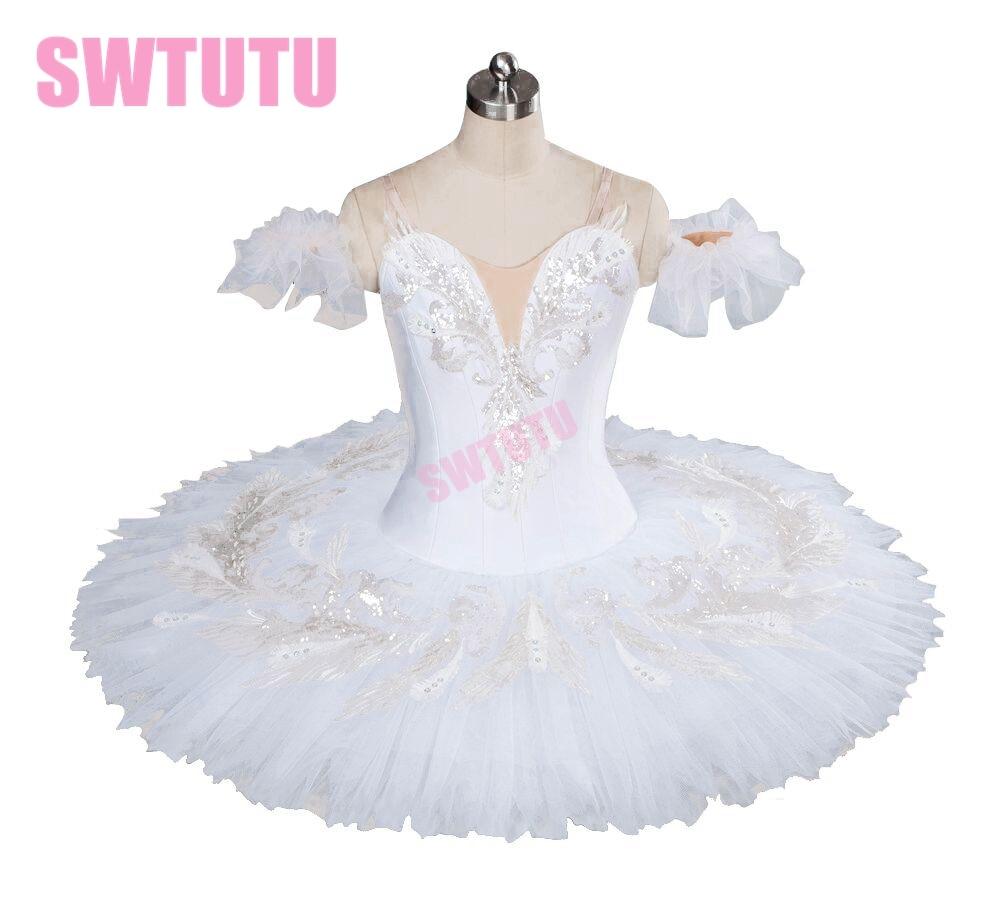 bezmaksas piegāde klasiskā baltā gulbja baleta tutu, profesionāls baleta tutu meitenēm pankūku tutu baleta kostīmi BT9035