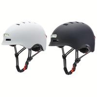 Casco inteligente para bicicleta de montaña, luz de advertencia, seguro, suministros de equipo de ciclismo