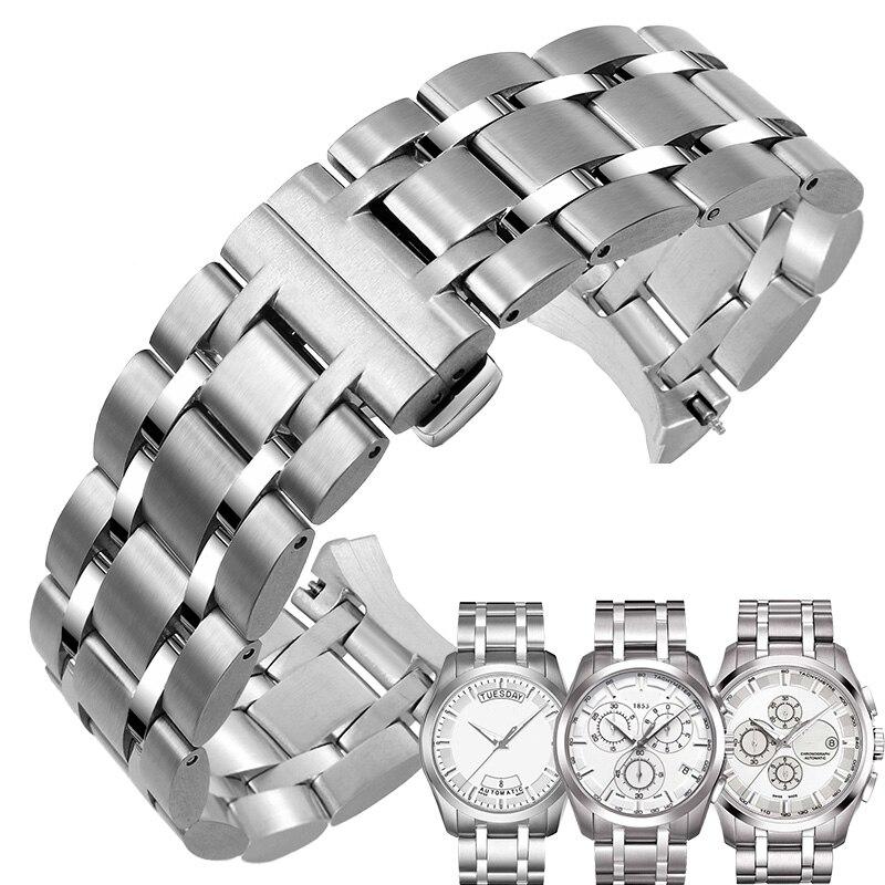 Bracelet de montre en acier inoxydable 22mm 23mm 24mm adapté pour Tissot 1853 Couturier série T035 Bracelet de montre Bracelet