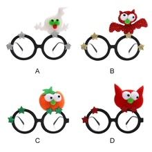 NEW Halloween Glasses Frame Party Decoration Props Ghost Novelty Personality Funny Pumpkin Bat Kids Toy