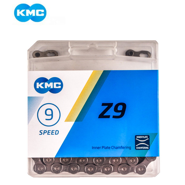 KMC Z99 Z9 for 9 Speed 116L Mountain Road Bike Bicycle Chain 27 Speed Folding Bicycle BMX Chains with Magic Chain Z9 MTB Bicycle