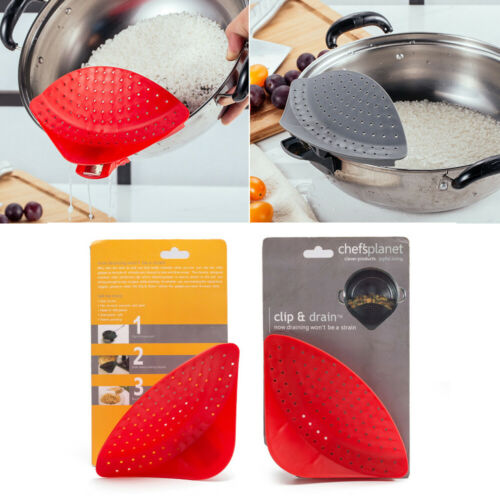 Kitchen Clip On Strainer With Reasonable Designed Leaking Hole For Straining Of Heavier Foods