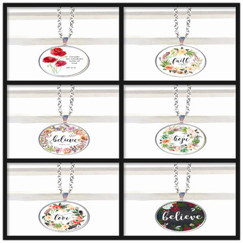 New Job 37:14 Consider The Wonderful Deeds of God Bible Scripture Nursery Scripture Necklace Pendant Religious Christian image