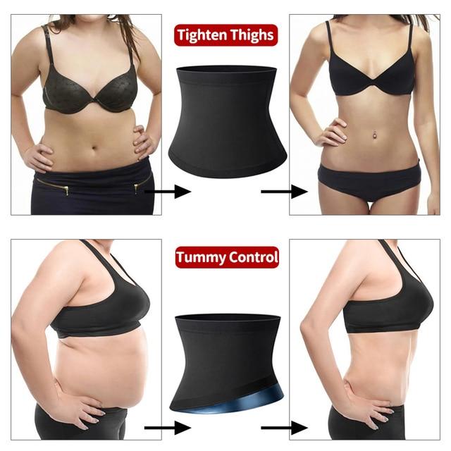 Polymer Waist Trainer Fitness Body Shaper Women Slimming Sheath Sweat Tummy TrimmerModeling Belt Sauna Corset Top Shapewear 3