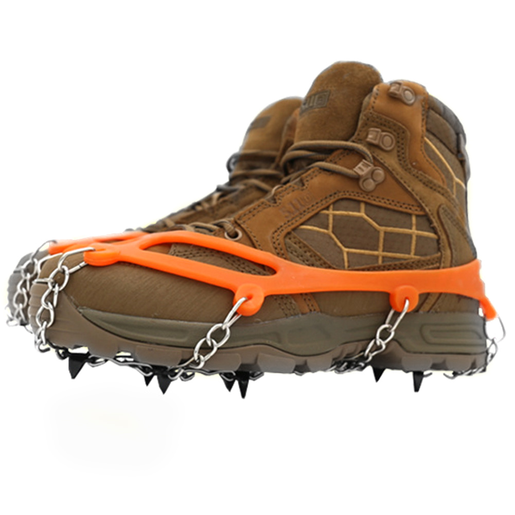 Snow Climbing Shoe Cover Outdoor Manganese Steel Winter Non Slip Spikes Ice Gripper Crampons Hiking Cleats