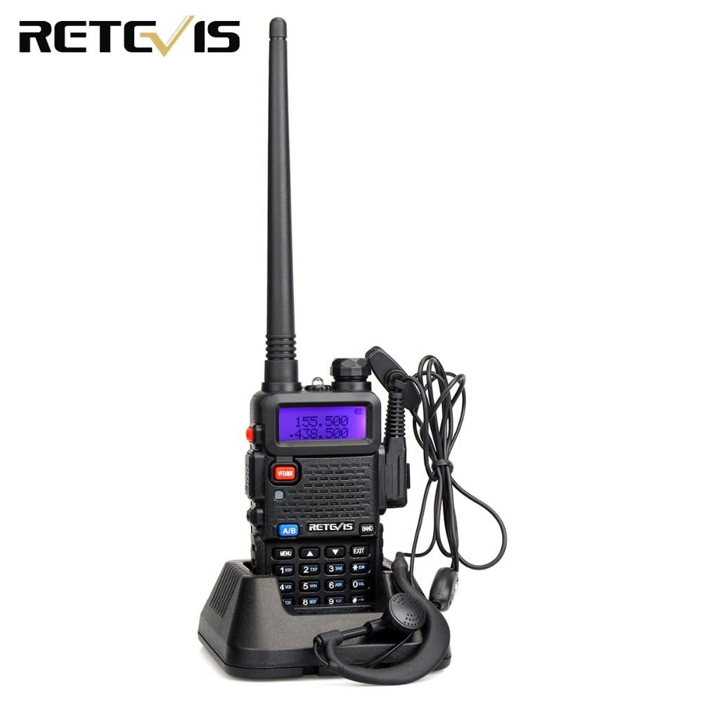 RETEVIS RT5R Handy Walkie Talkie 1pc VHF UHF Ham Amateur Radio Two-way Radio Airsoft Game Walkie-Talkie For Baofeng UV-5R