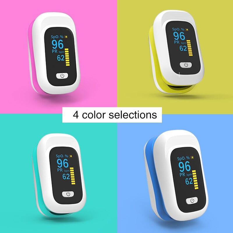 Medical Home Heathy Blood Oxygen Digital Fingertip Pulse Oximeter Saturation Meter Finger SPO2 PR Monitor Health Care YK-80X