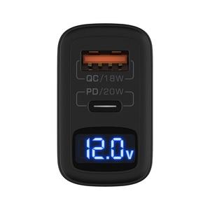 "Image 3 - BlitzWolf BW S19 20W 2 יציאת USB פ""ד מטען PD3.0 PPS QC3.0 SCP FCP AFC מהיר טעינת האיחוד האירופי Plug מתאם LED דיגיטלי תצוגת מטען"