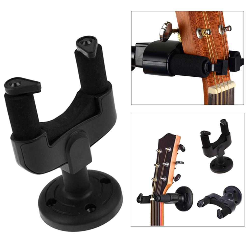 Guitarra gancho gancho suporte de montagem na parede para guitarra elétrica acústica clássica baixo ukulele banjo violino mandolin-0