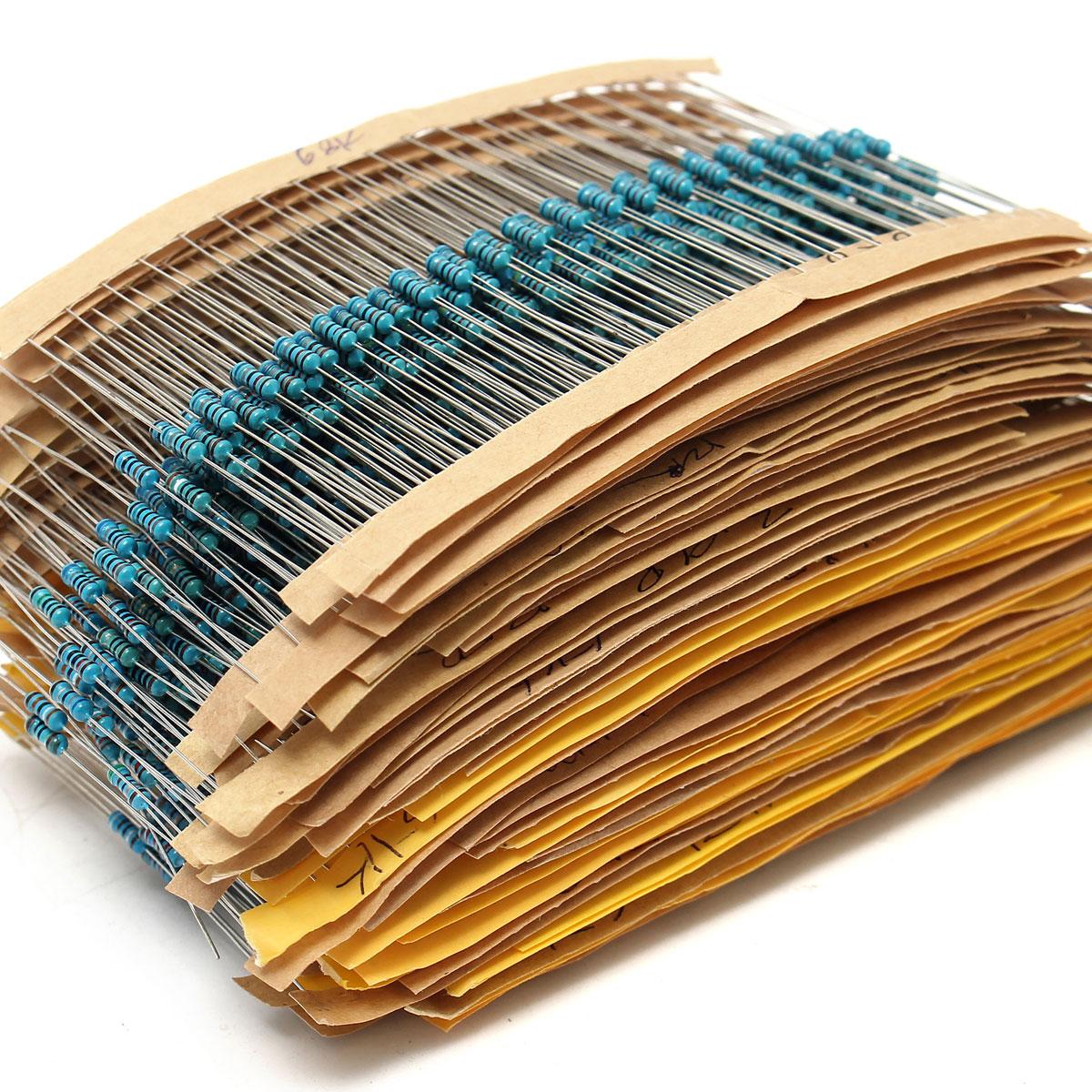 Resistors Metal-Film Values Assorted Lot 1/4w 1-% 2600pcs 130 Pack-Kit-Set