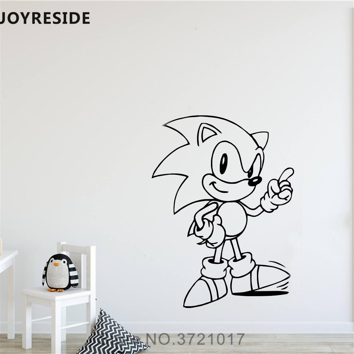 Sonic Hedgehog Sega L Vinyl Sticker Car Bin Poster Bedroom Wall Art Window Decal